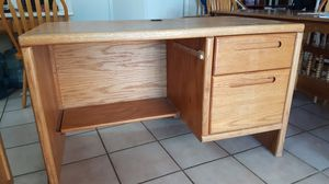 Computer desk. Solid and functional. Wire hole. Deep drawers. 48x25x29 for Sale in Chandler, AZ