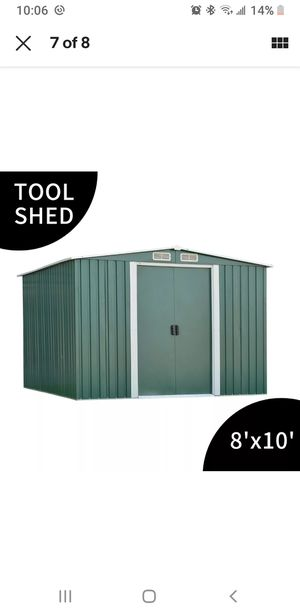8'x10' Steel Outdoor Garden Storage Shed Tool Shed Cabinet Building Green. for Sale in Chantilly, VA