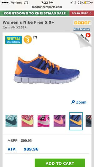 Women's Nike free 5.0 size 7.5 for Sale in Los Angeles, CA