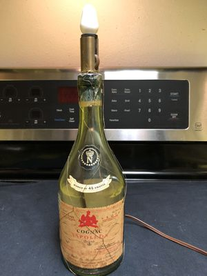 Vintage 1947 Napoleon cognac empty bottle lamp for Sale in Bellevue, WA