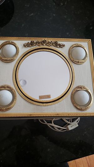 Antique Makeup Mirror 24k Gold Plated with lights for Sale in Chicago, IL