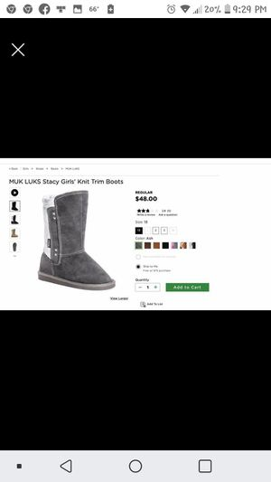 Brand new muk luks girls 13 winter boots for Sale in North Augusta, SC