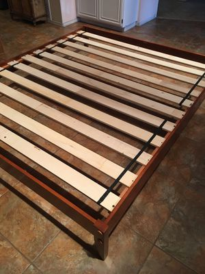 King bed frame . Real solid wood and in great shape still . for Sale in RANCHO SUEY, CA