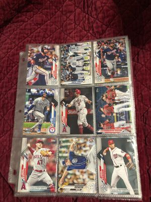 2020 Topps series 2 baseball cards with stars and rookies a total of 54 series 2 cards $5 for Sale in Calverton, MD