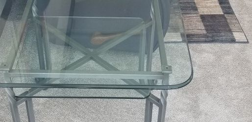 glass coffee and end tables for Sale in Moline,  IL