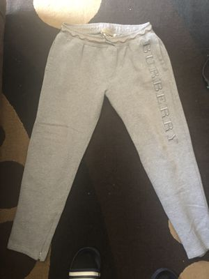 Burberry XL Grey sweats for Sale in Rancho Cucamonga, CA