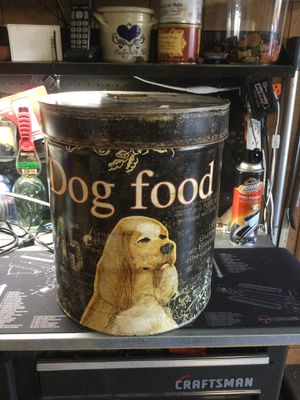 Metal Dog food can- Great shape for Sale in Chantilly, VA