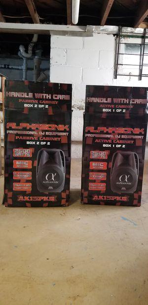 """Alphasonik 15"""" speakers, 2500 W for Sale in Oceanside, NY"""