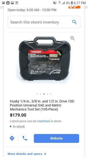 Husky 105 piece mechanic set for Sale in St. Petersburg, FL