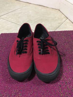 Red Vans with Black soles for Sale in Hialeah, FL