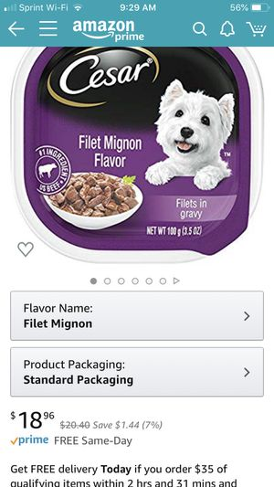 Cases of 24 Cesar dog food for Sale in Chelan, WA