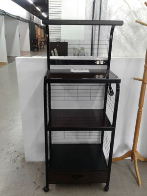 NEW, large microwave or small appliance stand. Available in white or black. for Sale in Pembroke Pines, FL