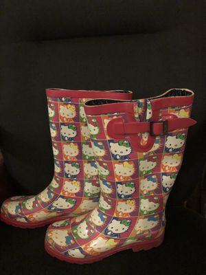 Ladies Size 8M hello kitty rain boots for Sale in Norman, OK