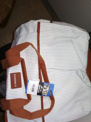 2 in 1 diaper bag with canvas table top and belts for Sale in Bensalem, PA