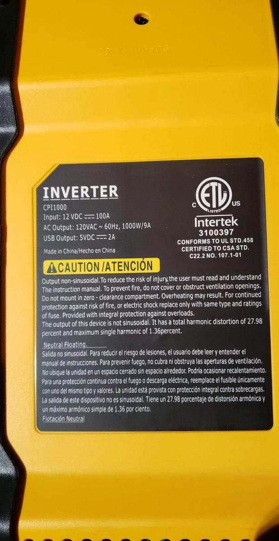 CAT 12 v Power Inverter