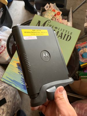 Motorola modem router for Sale in Chula Vista, CA