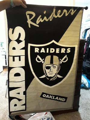 Raiders poster (its fabric material) for Sale in El Cajon, CA