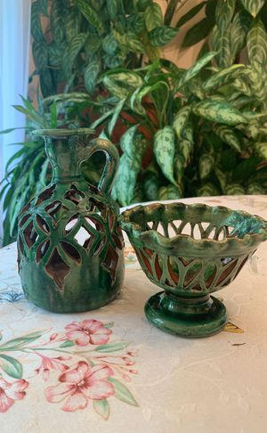 Clay bowl and jug decoration for Sale in Fairfax, VA