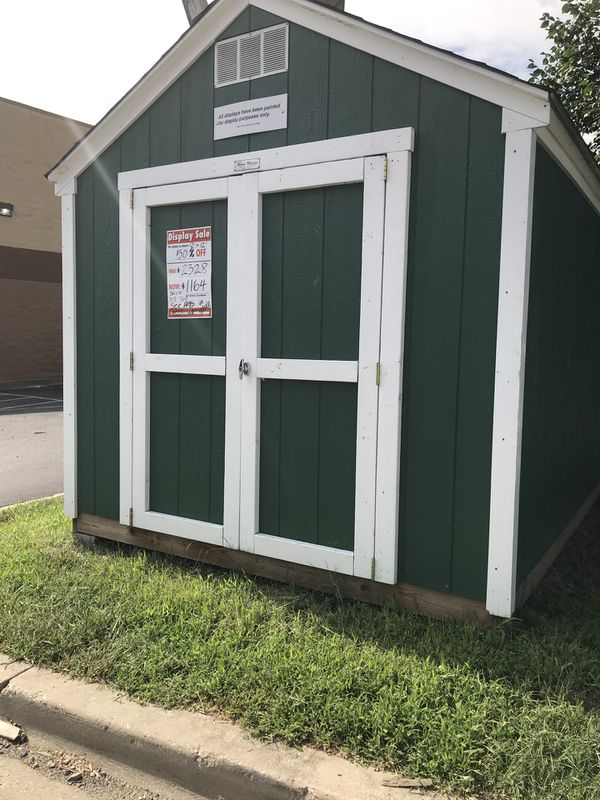 Existing shed display $1164 with delivery setup w/in 30 miles