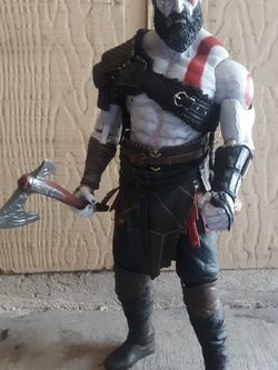 """18"""" NECA GOD OF WAR KRATOS ULTIMATE COLLECTOR'S 1/4 SCALE ACTION FIGURE for Sale in Temple,  TX"""