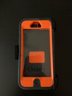 Orange/Camouflage iPhone 5 otterbox case for Sale in Phoenix, AZ