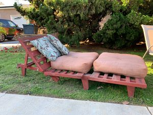 Patio Furniture - convertible from chaise lounge to folded chair. for Sale in San Diego, CA