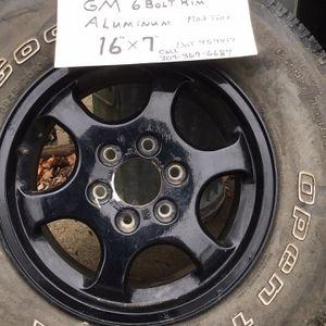 """GM Aluminum 6 Bolt Rim 16""""x7"""" Dot 959417 for Sale in Chillicothe, IL"""