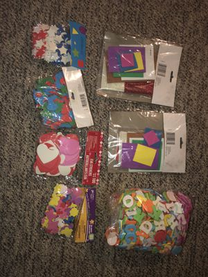 2 Holiday Packs- Christmas themed Stickers, Rainbow colored foam alphabet stickers! Plus Foam Stars. Hearts, Butterflies, Stockings and Christmas Tree for Sale in Plainfield, IL
