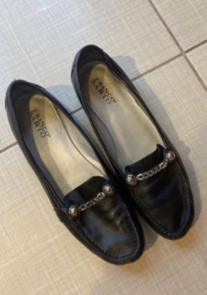 Good Condition Black Franco Santo Moccasin Flats for Women Size 10 for Sale in Livingston, NJ