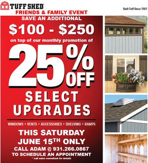 Tuff Shed Private Letter Event for Sale in Clarksville, TN