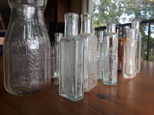 Antique medicine bottles mostly 1800's (14 count) for Sale in Vista, CA
