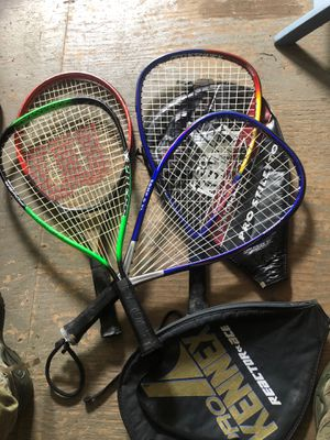 Tennis and racket ball rackets for Sale in Shamong, NJ