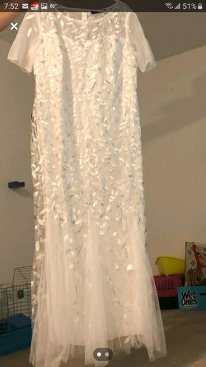 White and Silver Wedding or Formal Dress Size 22 for Sale in Port Richey, FL