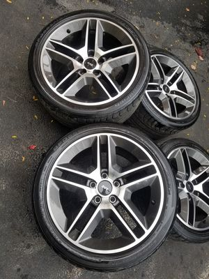 """18"""" ford mustang shelby cobra stock wheels tires great shape! for Sale in Bolingbrook, IL"""