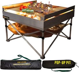 Portable Outdoor Fire Pit and BBQ Grill Outdoor Use for Sale in Henderson,  NV