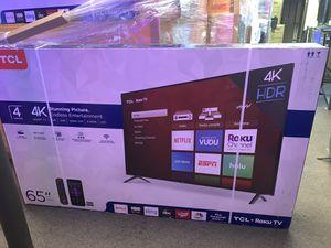 "TCL TV 65"" 4K ROKU SMART HDR for Sale in Las Vegas, NV"