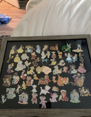 Disney Authentic and Fantasy Pin Lot w/ Shadow Box for Sale in Hayward, CA