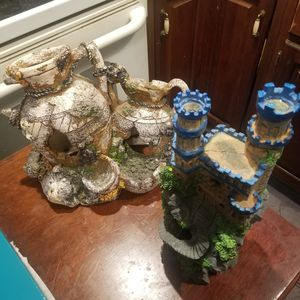 Fish tank decorations 15 dollars each or 20 for both big pieces for Sale in Baltimore, MD