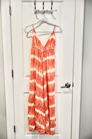 Pink dress Women girl holiday vacation beach pool summer school college student size M strapless for Sale in Arlington, VA