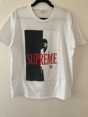 FW17 Supreme x Scarface White Tee, Size L for Sale in Seattle, WA