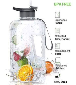 Stay Motivated on Drinking Water With Time Markers! 100% BPA Free! for Sale in Frederick, MD