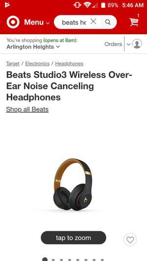 Beats Studio 3 Wireless Headphones for Sale in Arlington Heights, IL