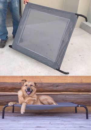 New in box levitating dog pet cot bed 44x32x7 inches tall 110 lbs capacity for Sale in Santa Fe Springs, CA