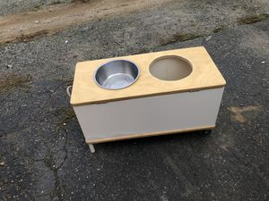 Raised dog food bowl for Sale in Seattle, WA