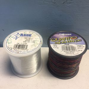 Fishing Lines (2) (White & Red) Ande Monofilament for Sale in West Covina, CA