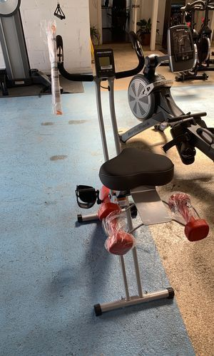Ready to work out! Did you see our Proform easy storage small exercise bike for Sale in Playa del Rey, CA