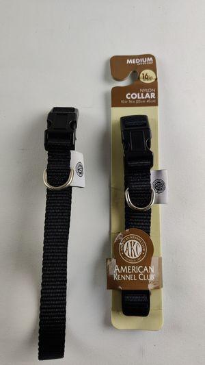 """Adjustable Dog Collar, American Kennel Club 10""""-16"""" Nylon Medium Black for Sale in Worth, IL"""