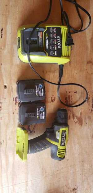 Ryobi 12v drill, charger and 2 batteries for Sale in Spartanburg, SC