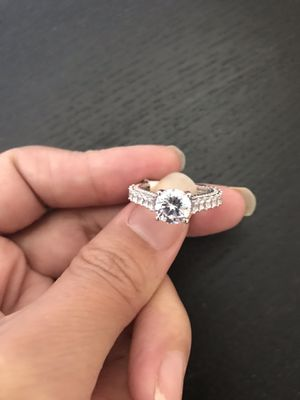 925 sterling silver ring cz size 6 or 7 for Sale in Philadelphia, PA