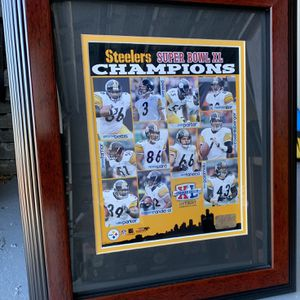 STEELERS PICTURE IN GLASS FRAME for Sale in Port St. Lucie, FL